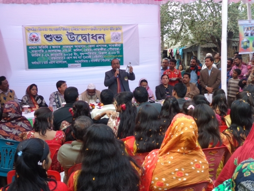 Opening ceremony of Iron and arsenic removal plant in Etagacha-Purbo para, Satkhira